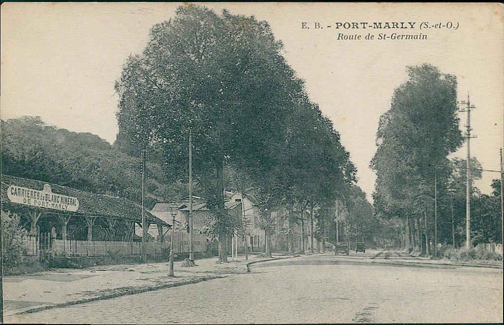 Rue de saint germain port marly m moire vivante cartes - Les pyramides avenue de saint germain port marly ...
