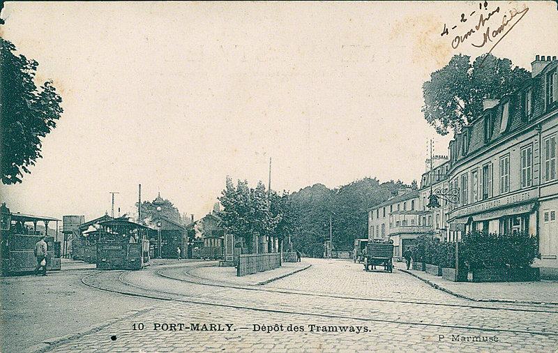 Carte postale sur le port marly france port marly - Les pyramides avenue de saint germain port marly ...